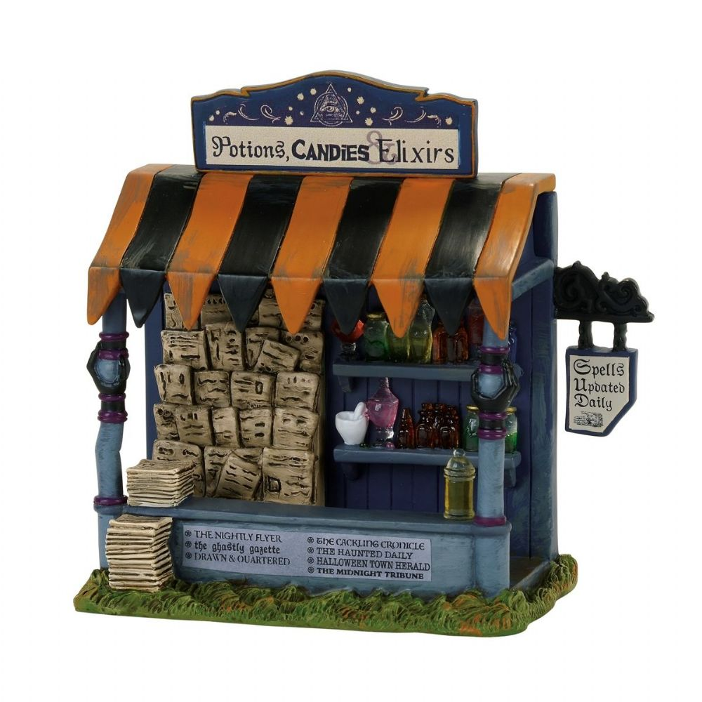 Department 56 Snow Village Halloween Spells and Potions Kiosk 4057617